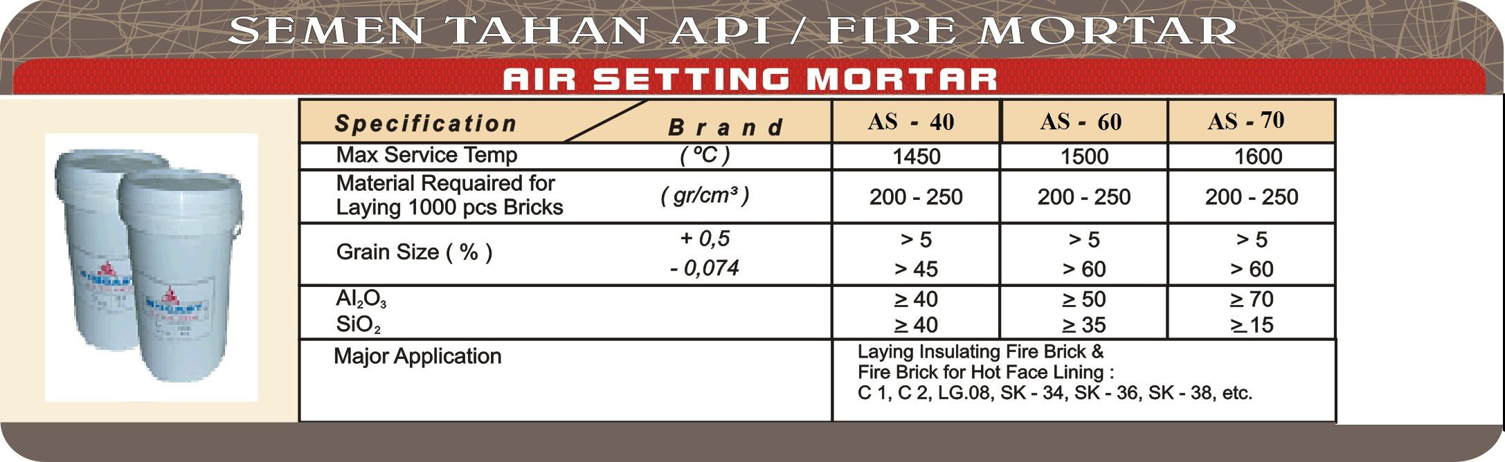 Air Setting Mortar